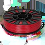 ABS Нить для 3D принтера. Цвет: тёмно-красный
