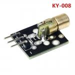 Модуль 650nm красного лазерного  диода точка KY-008 для Arduino